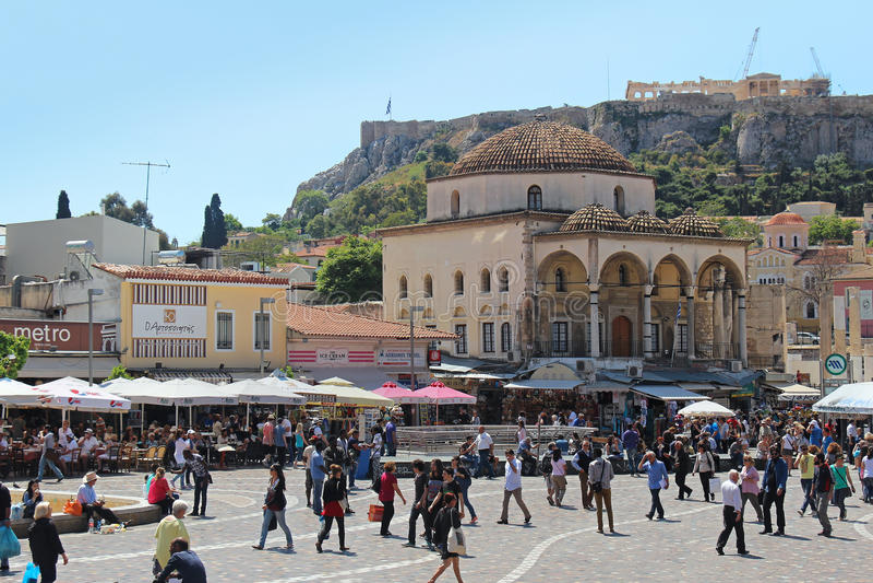 Quadrato di Monastiraki fotografia stock libera da diritti