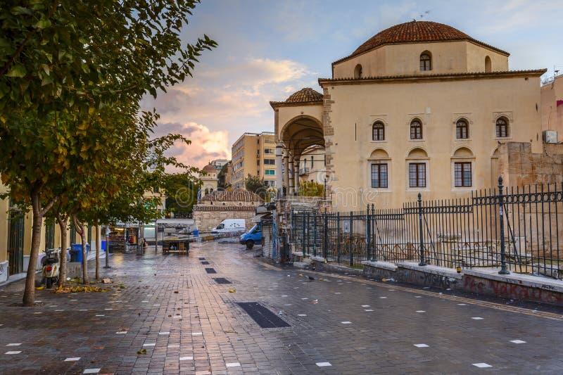 Quadrato di Monastiraki, Atene fotografie stock libere da diritti