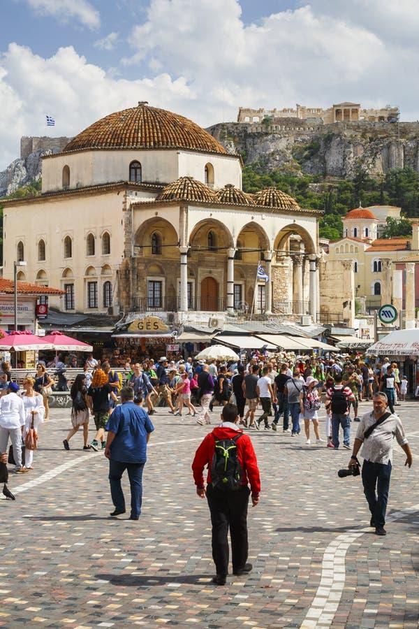 Quadrato di Monastiraki a Atene immagine stock