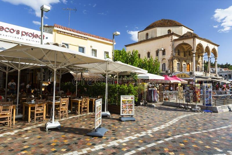 Quadrato di Monastiraki a Atene fotografia stock