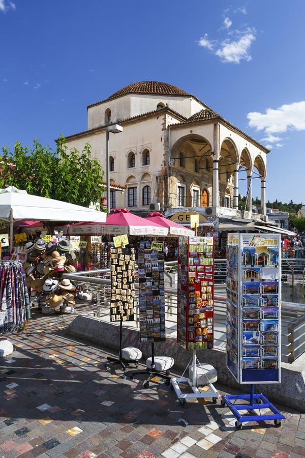 Quadrato di Monastiraki a Atene fotografia stock libera da diritti