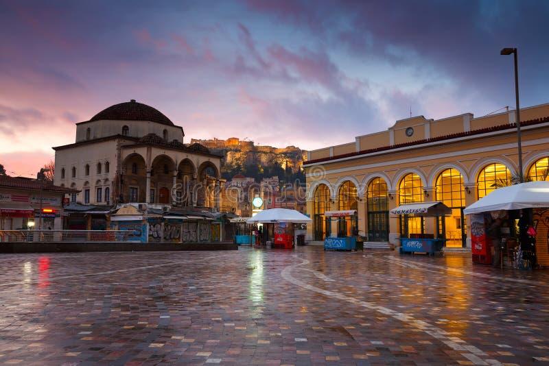 Quadrato di Monastiraki, Atene fotografie stock