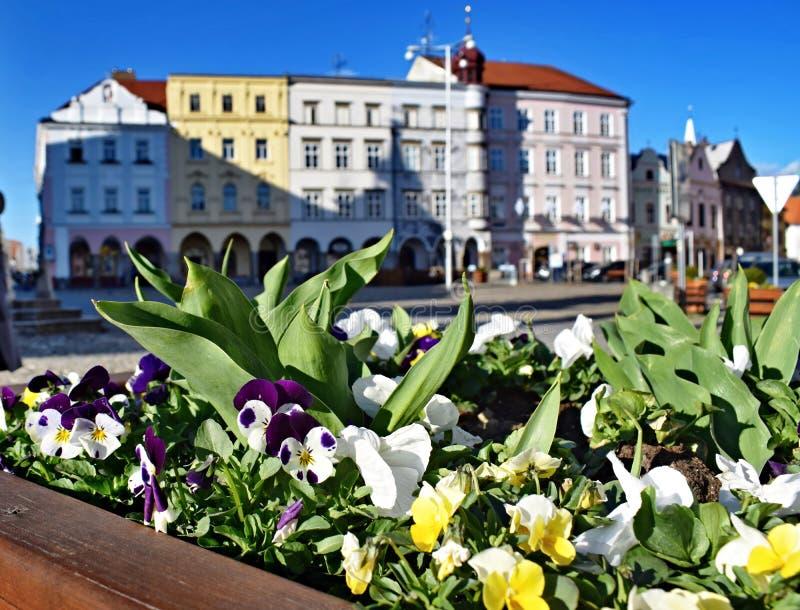 Quadrato di pace in Jindrichuv Hradec, repubblica Ceca immagini stock libere da diritti