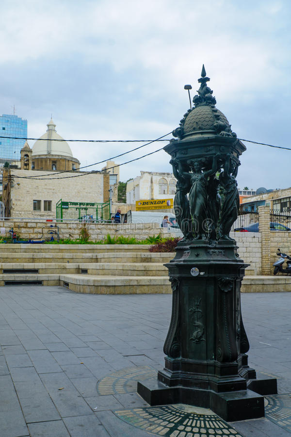 Quadrato di Parigi a Haifa fotografia stock