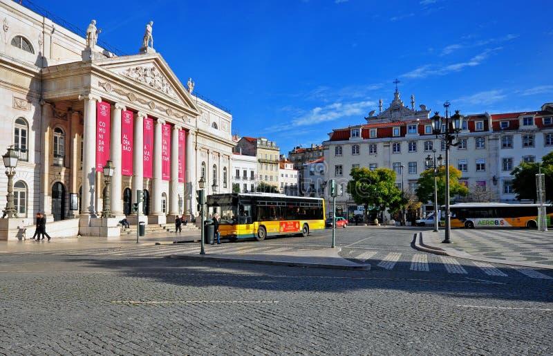 Quadrato di Pedro IV, Lisbona fotografie stock