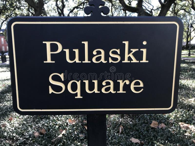 Quadrato di Pulaski in mezzo alla savana, Georgia immagini stock