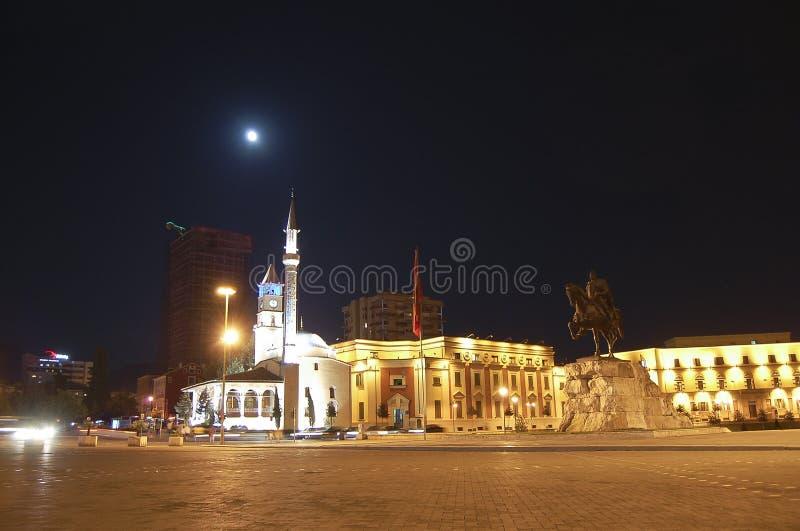 Quadrato di Scanderbeg - Tirana - Albania fotografie stock