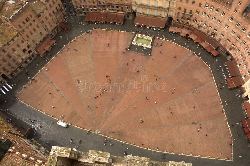 Quadrato di Siena immagine stock