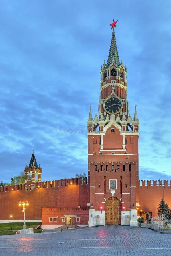 Quadrato di Spasskaya Tower fotografie stock