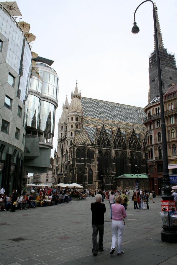 Quadrato di Stephansplatz, Vienna l'austria fotografie stock