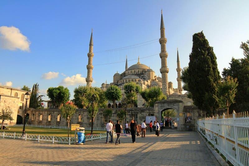 Quadrato di Sultanahmet e moschea blu fotografia stock libera da diritti