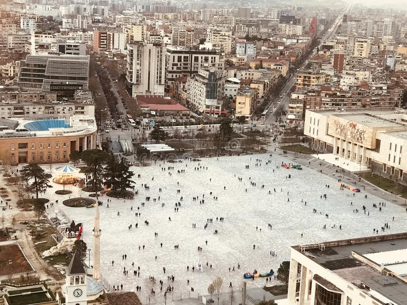 quadrato di Tirana fotografia stock libera da diritti