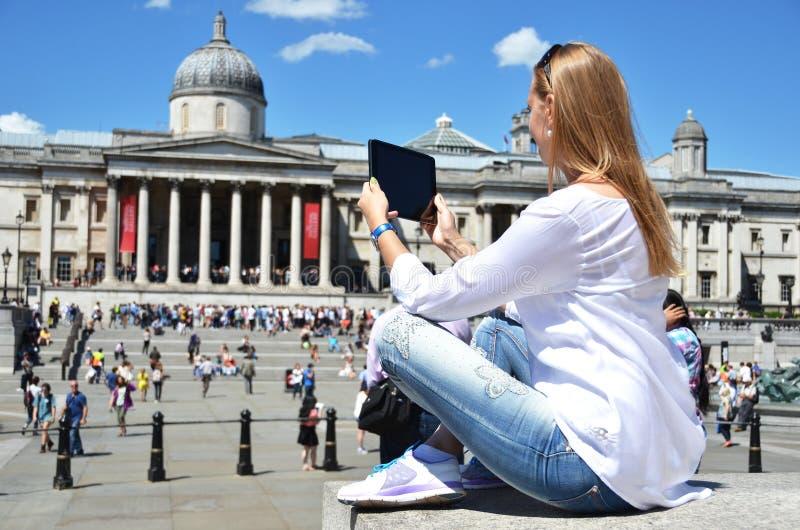Quadrato di Trafalgar a Londra immagine stock