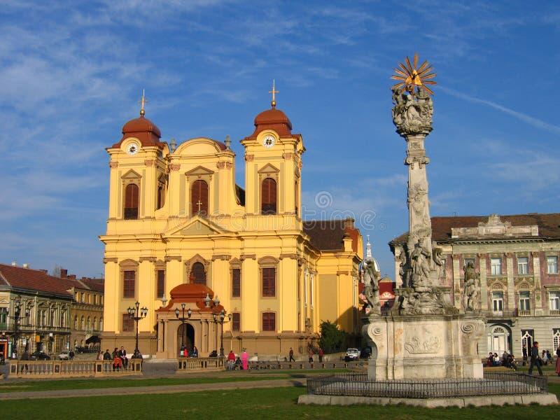 Quadrato di Unirii - Timisoara, Romania immagini stock