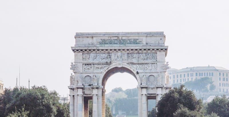 Quadrato di Vittoria di della piazza a Genova fotografie stock