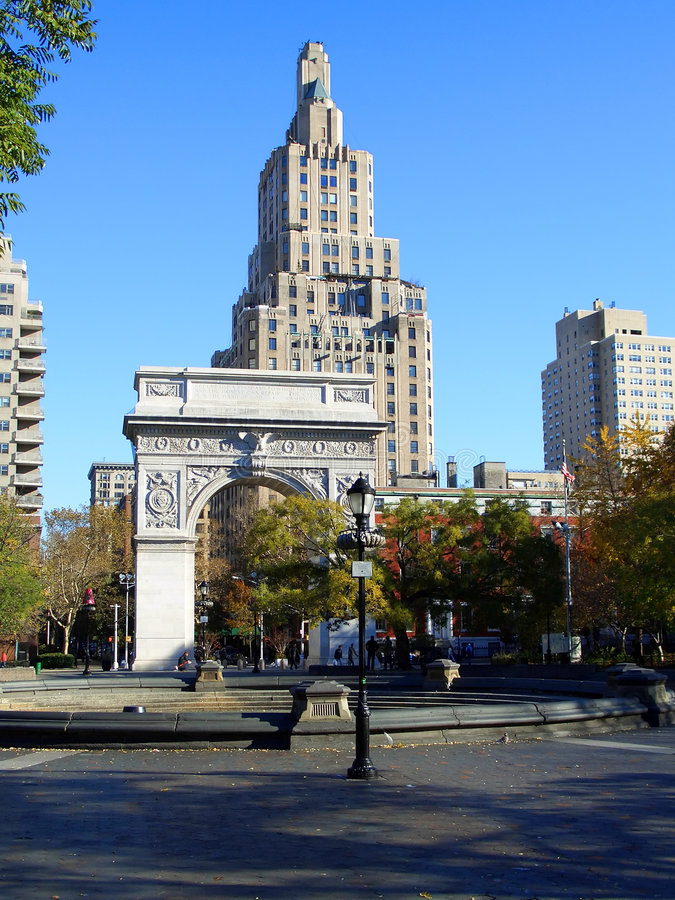 Quadrato di Washington, Manhattan, fotografia stock