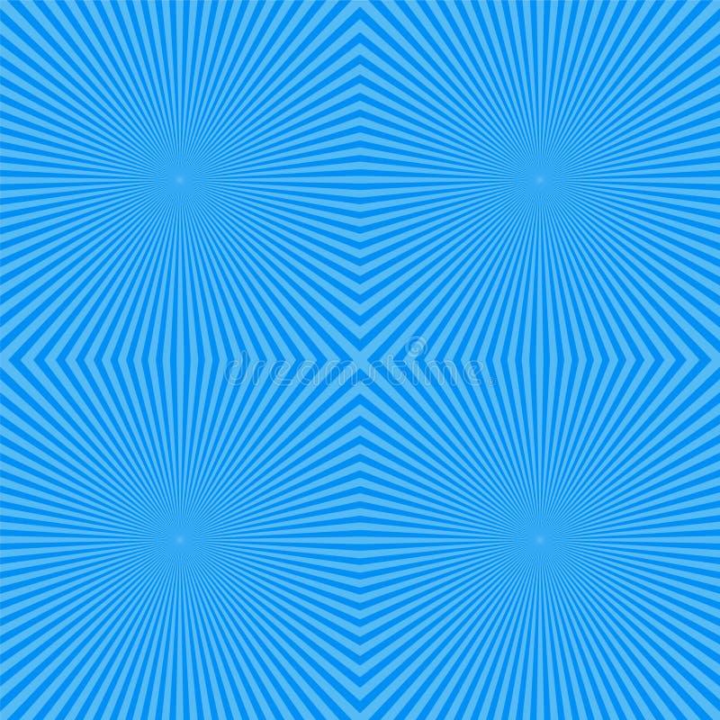 Quadrato e contesto radiante con l'illustrazione di vettore del cielo del raggio illustrazione di stock