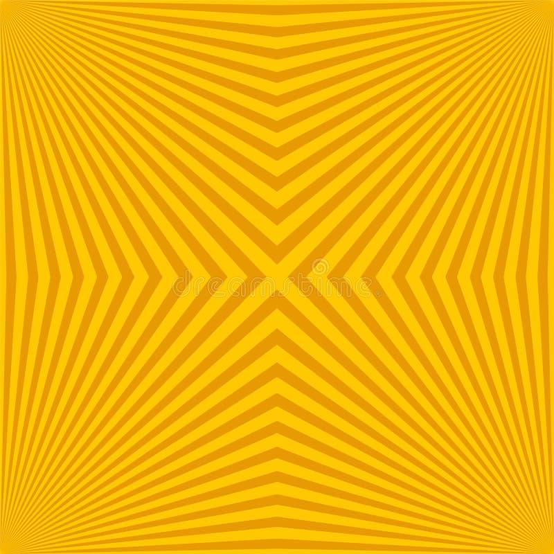 Quadrato e contesto radiante con l'illustrazione di vettore dello sprazzo di sole del raggio illustrazione di stock