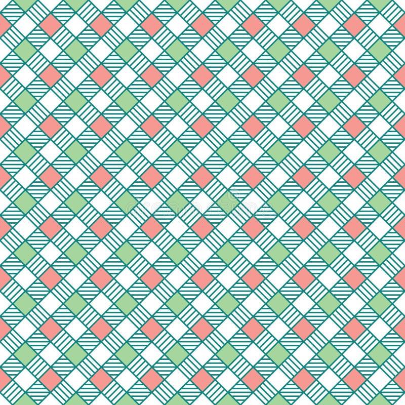Quadrato geometrico con le linee illustrazione vettoriale