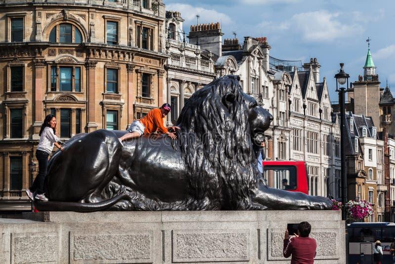 Quadrato Inghilterra di Londra Trafalgar immagini stock