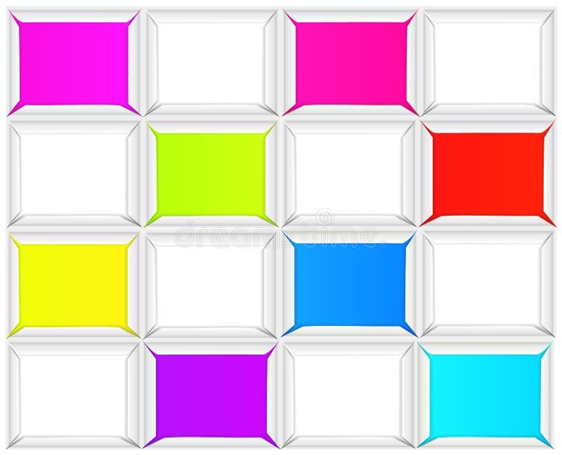 Quadrato luminoso del fondo fotografia stock