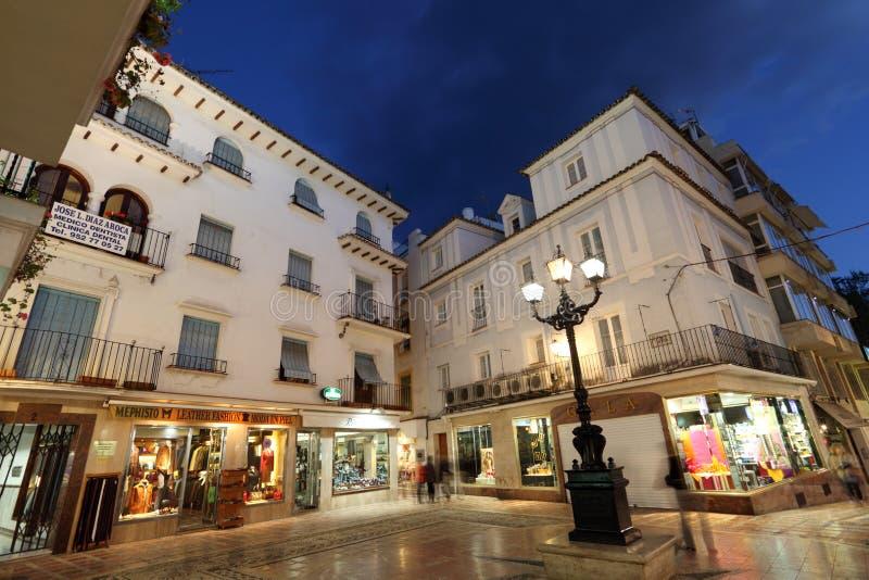 Quadrato a Marbella, Spagna fotografia stock libera da diritti