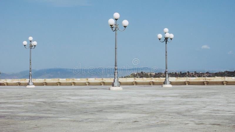 Quadrato nel quarto aka Casteddu di Castello a Cagliari, Italia immagini stock libere da diritti