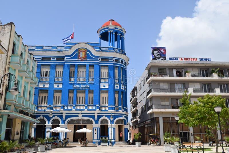 Quadrato principale in Cienfuegos Cuba immagine stock libera da diritti