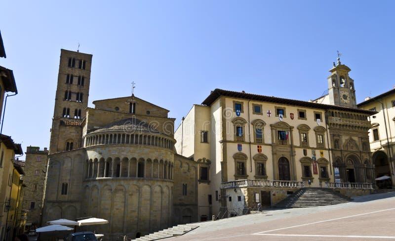Quadrato principale di Arezzo immagine stock libera da diritti
