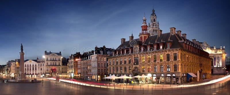 Quadrato principale di Lille, Francia immagini stock libere da diritti