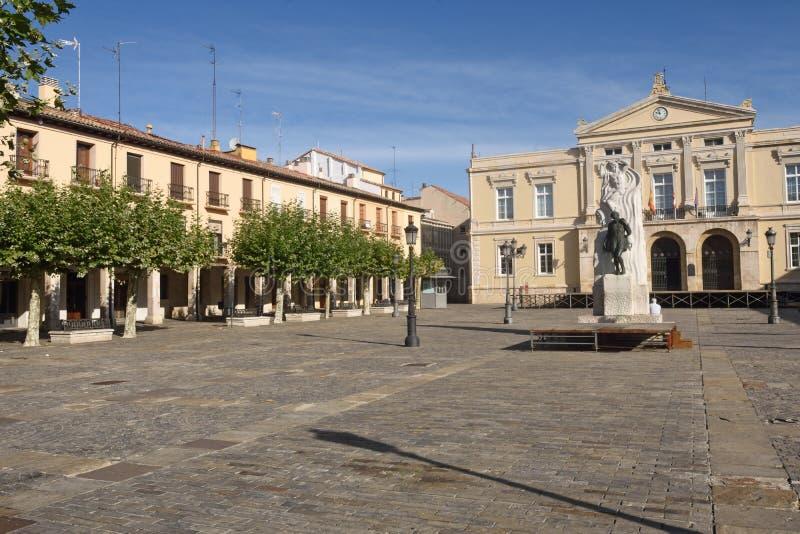 Quadrato principale di Palencia, Castiglia y Leon, Spagna fotografia stock