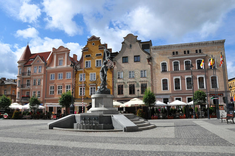 Quadrato principale in GrudziÄ… DZ, Polonia fotografie stock libere da diritti