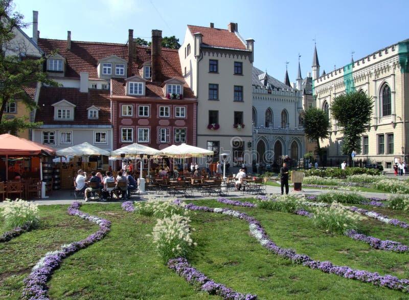 Quadrato principale a Riga (Latvia) fotografia stock