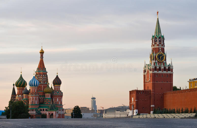 Quadrato rosso Mosca fotografie stock libere da diritti