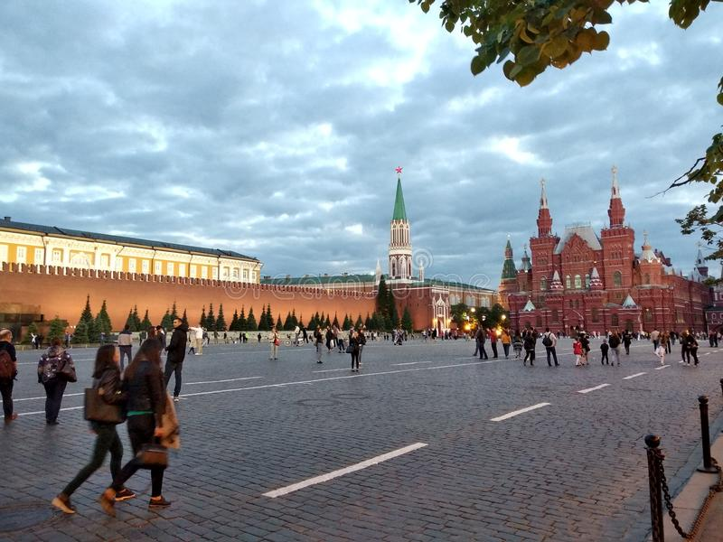 Quadrato rosso a Mosca, Russia fotografia stock libera da diritti