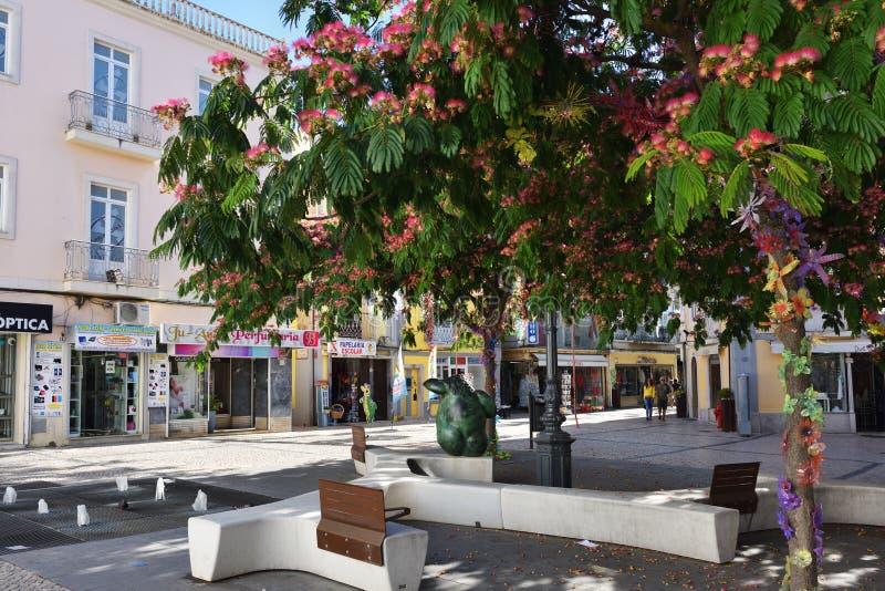 Quadrato a Setubal, Portogallo fotografie stock