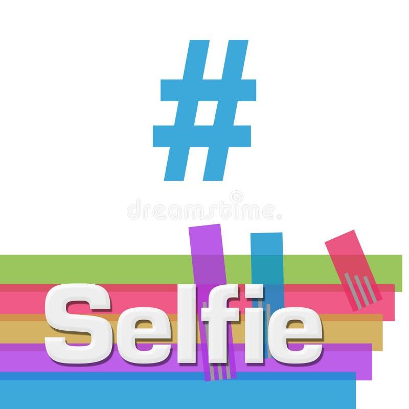 Quadrato variopinto astratto delle bande di Selfie royalty illustrazione gratis
