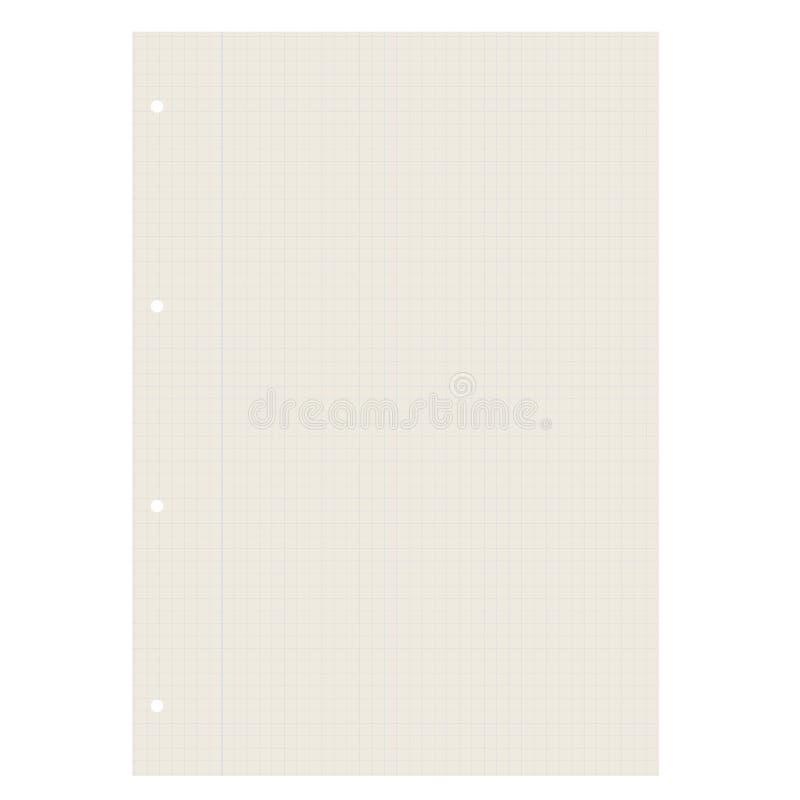 A quadretti di carta di riciclaggio in bianco illustrazione di stock