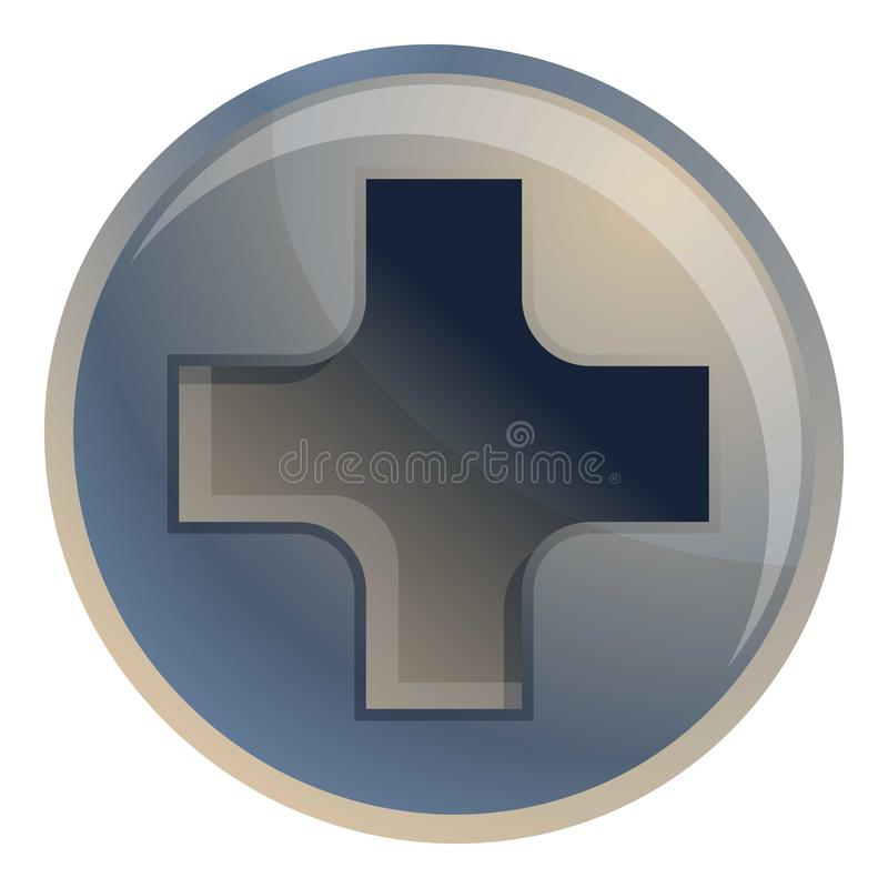 Quadrex screw-bolt icon, cartoon style. Quadrex screw-bolt icon. Cartoon of quadrex screw-bolt vector icon for web design isolated on white background vector illustration