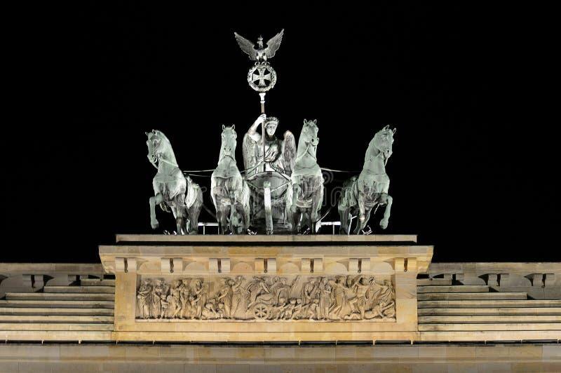 Quadriagd na Brandenburg bramy Brandenburger Tor, Berlin, Niemcy zdjęcie stock