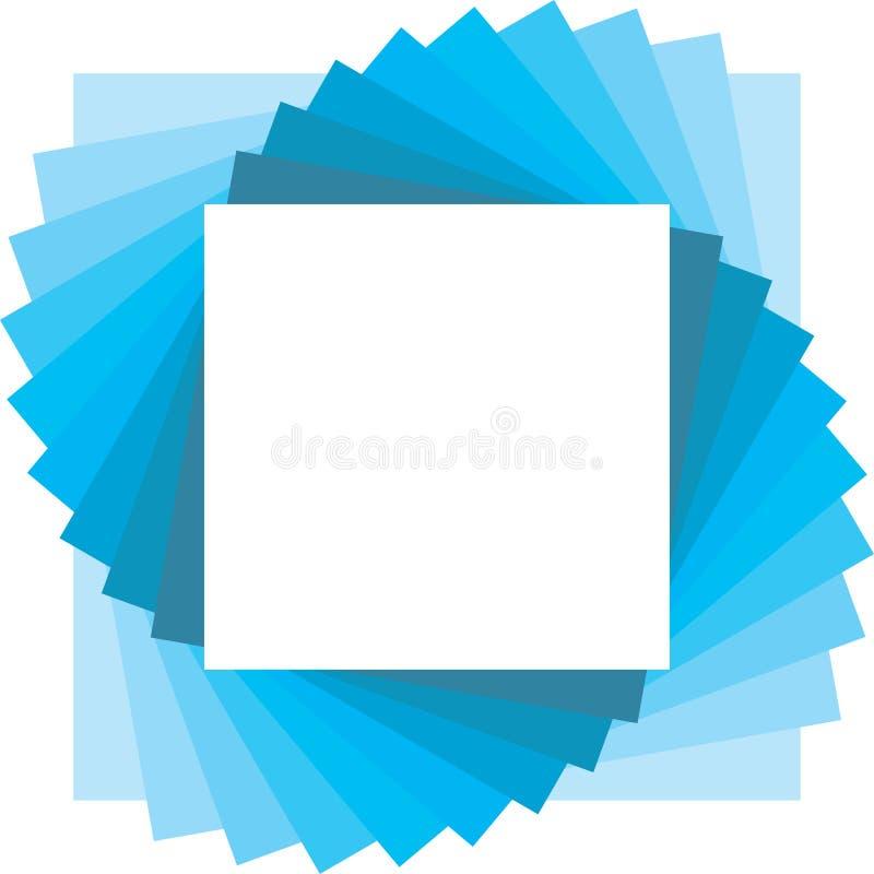 Quadrieren Sie Hintergrund für Foto lizenzfreie abbildung