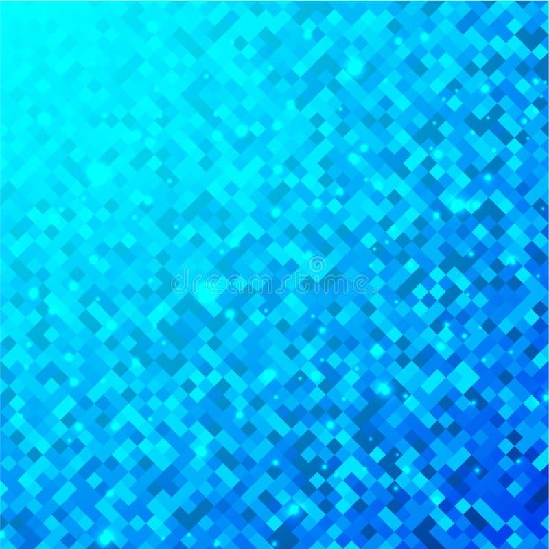 Quadriert blaues Technologiemuster lizenzfreie abbildung