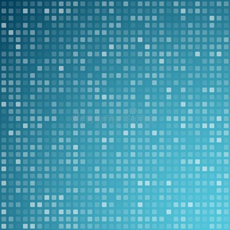 Quadriert blaues Technologiemuster vektor abbildung