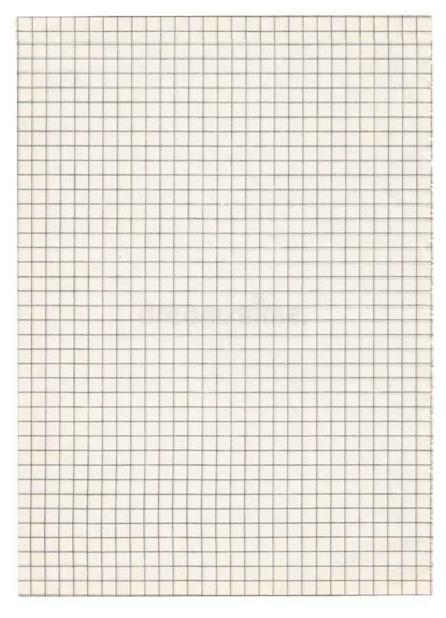 Quadriertes Papier auf Whit lizenzfreies stockfoto