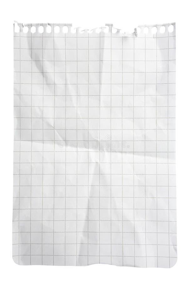 Quadriertes Papier-Notizblock-Blatt lizenzfreie stockfotos