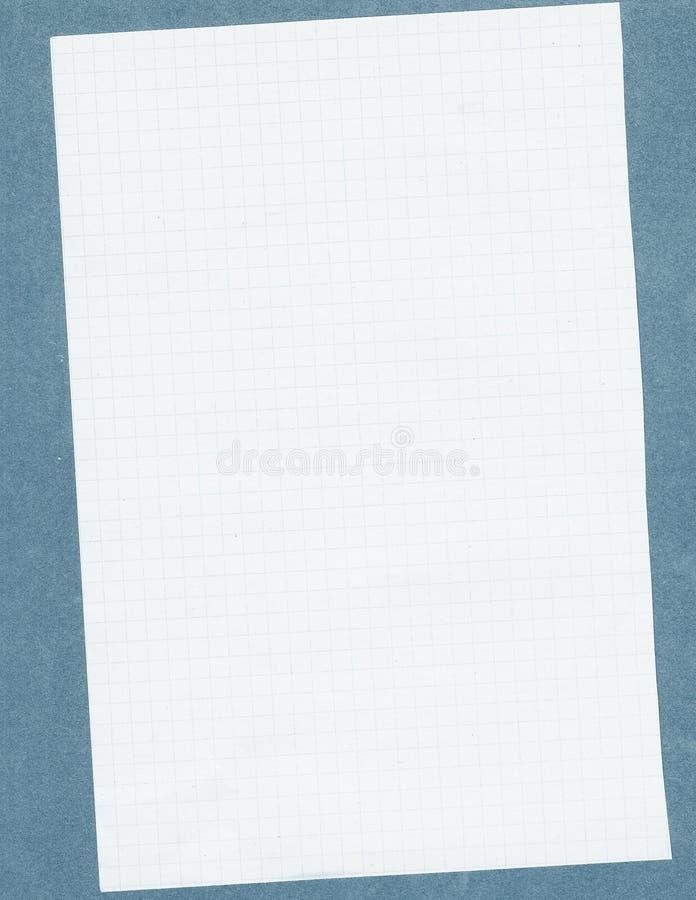 Quadriertes Weißbuch stockbild