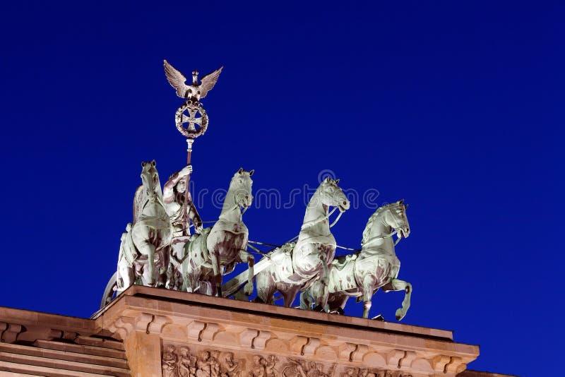 Quadriga of Brandenburg Gate, Berlin royalty free stock image