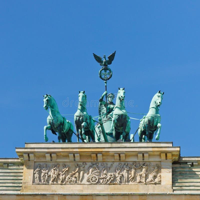 Quadriga, massif de roche de Brandenburger (Porte de Brandebourg) photographie stock libre de droits