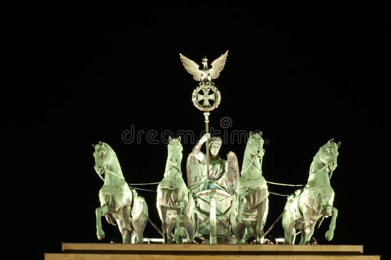 Quadriga Statue in Berlin royalty free stock photography