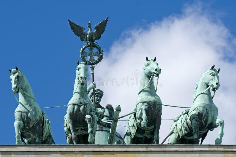 Quadriga van de Poort van Brandenburg stock afbeeldingen